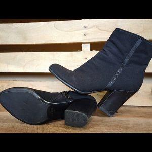 Black Prada Block Heel Boots